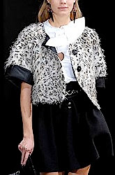 Emporio Armani Leopard Print Cropped Swing Jacket