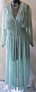 Vintage Silk Chiffon Robe