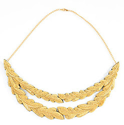 Rheanna Lingham Gold Embroidered intricate wreath shape necklace