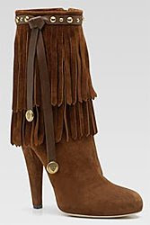 Gucci suede moccasin boot