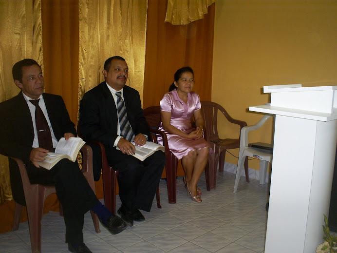 Pb.Luiz, Pr. Inaldo, Mis. Ana Glória Pedra