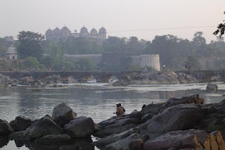 Morning in Orchha Betwa River