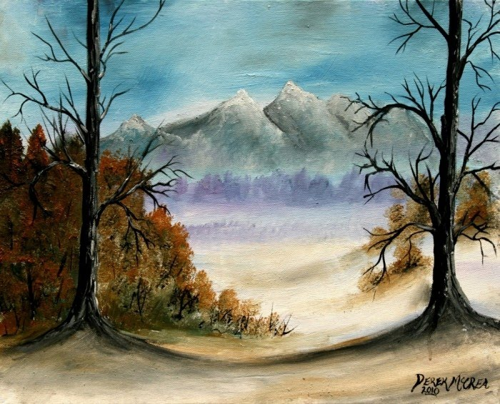 famous winter landscape oil painting