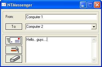 Mengirim Pesan Antar Komputer Jaringan dengan NT Messenger