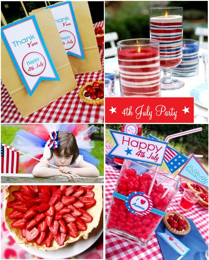4th July Party Celebrations | Patriotic Inspiration Board - BirdsParty.com