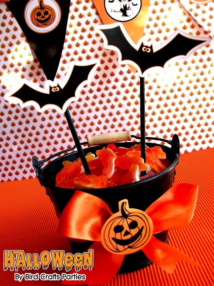 Halloween Printables | Orange & Black Spooky Party Ideas  - BirdsParty.com