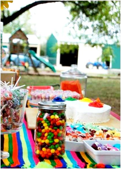 A Colorful Rainbow Art Birthday Party - BirdsParty.com