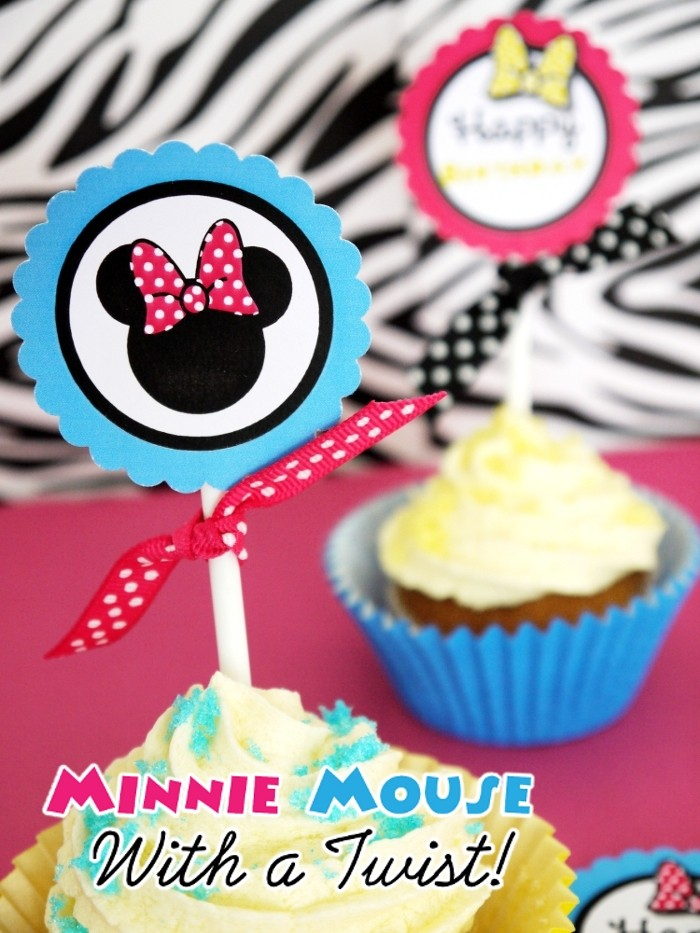 Modern Minnie Mouse Inspired Birthday Party Printables - BirdsParty.com