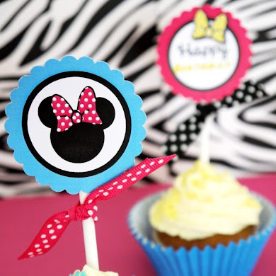 Modern Minnie Mouse Inspired Birthday Party Printables