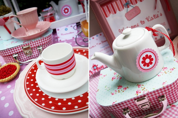 Pink and Aqua Tea Party Ideas & Printables - BirdsParty.com