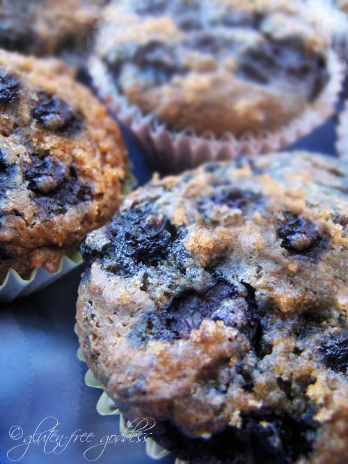 Gluten-Free Vegan Blueberry Muffins | Gluten-Free Goddess® Recipes
