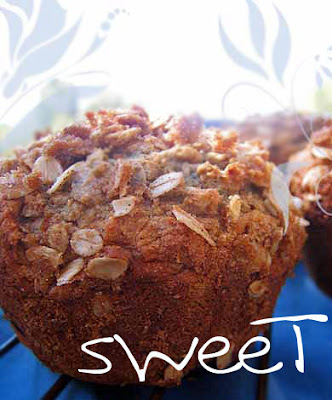 Blueberry Oat Muffin - Vegan recipe - Wheat free and gluten free