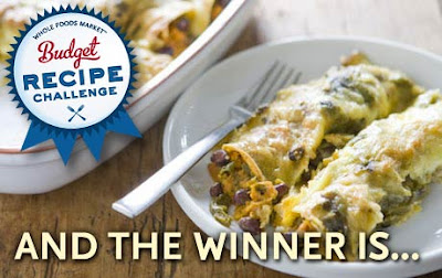 Whole Foods Budget Recipe Challenge Winner Karinas Sweet Potato Black Bean Enchiladas
