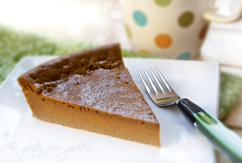 Gluten free sweet potato pie that is dairy free and vegan