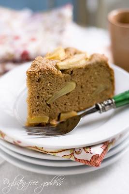 Apple cake with gluten free coconut flour