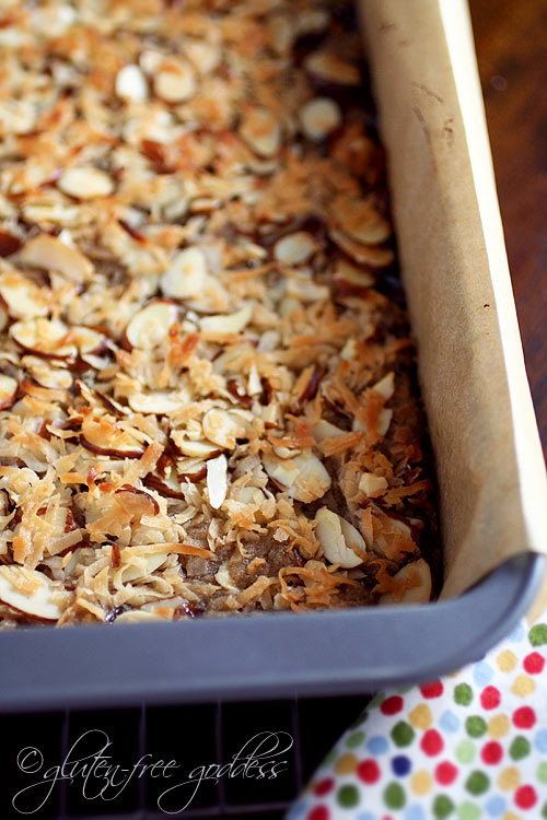 GLUTEN-FREE GODDESS: Gluten-Free Raspberry Coconut-Almond Bars