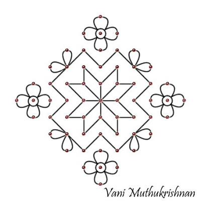 My Kolam: Simple floral