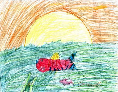 DIBUJOS DE SAM: Tiburon Gracioso Y Con Atardecer