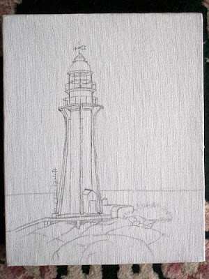 lighthouse oil painting