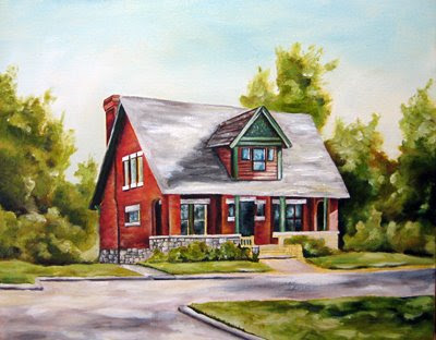 house oil painting