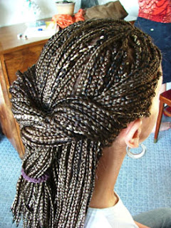 Long African Braid Haircut for Women