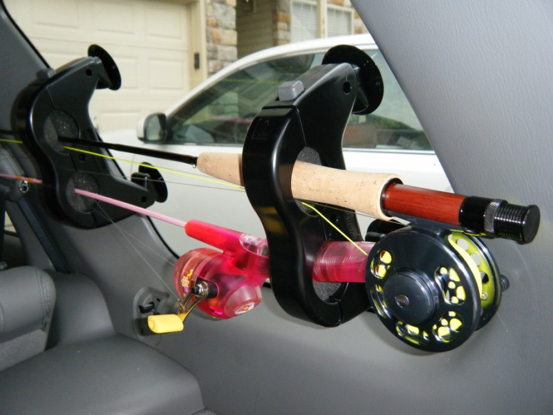 Gear review inno window mount rod rack for Suv fishing rod holder