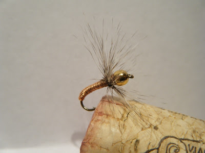 tenkara copper john bead head sakasa kebari fly