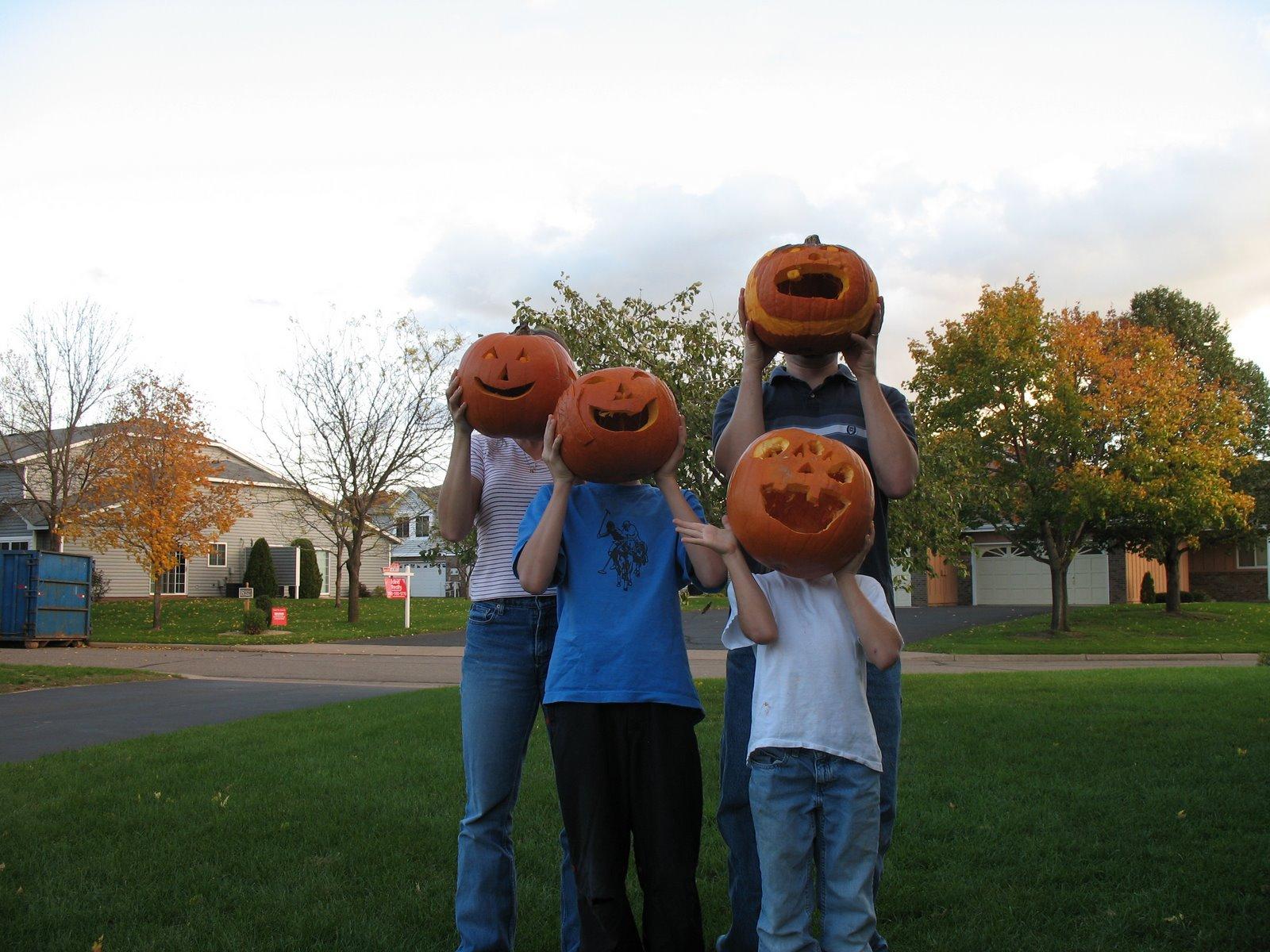 Pumpkins Guarding My Front Porch