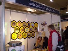 Estand de la Asociación de criadores de reinas de Australia