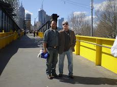 Junto a Marcelo del Hoyo por las calles de Melbourne