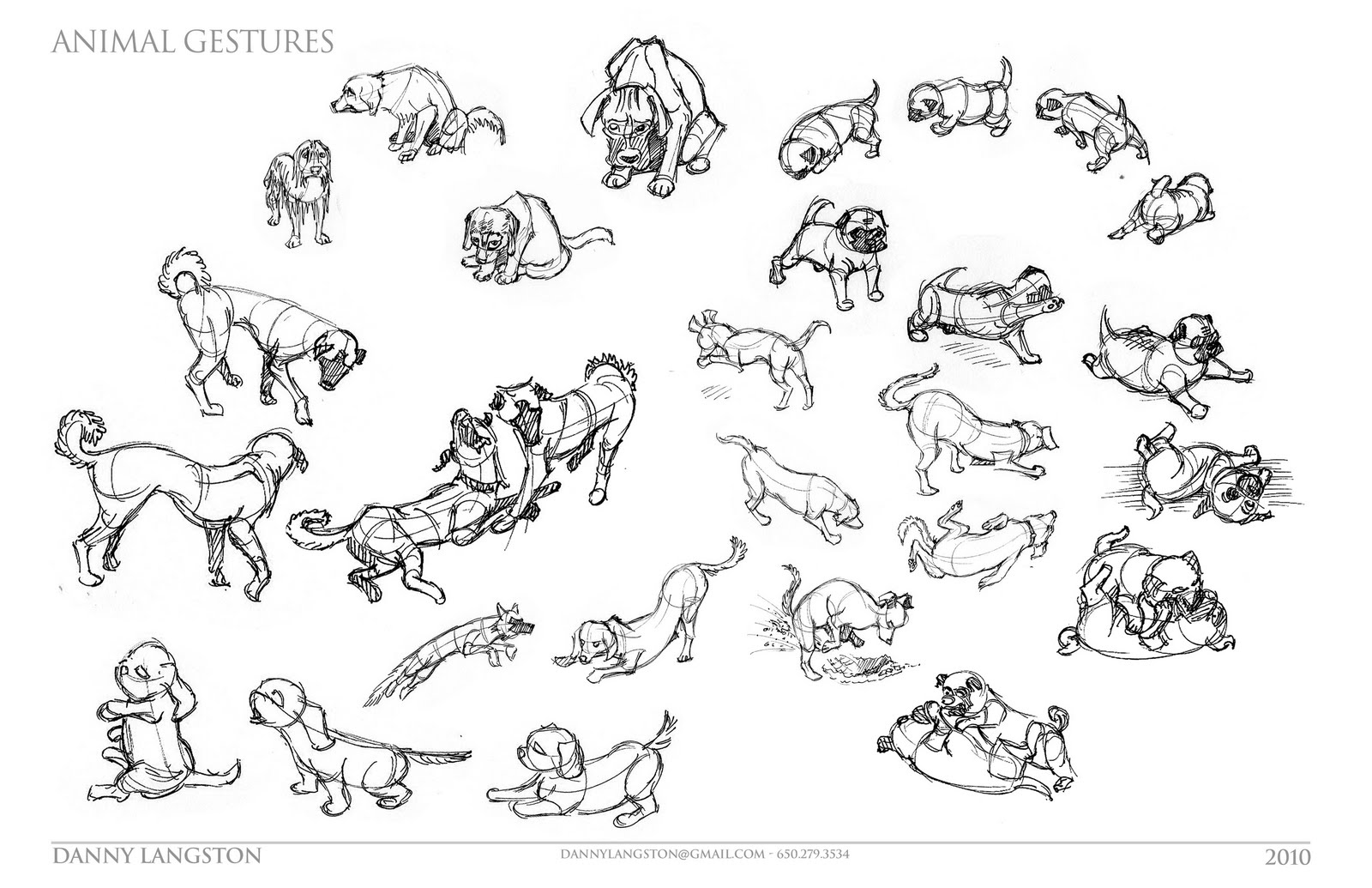 Danny Langston: Quick Sketches, Life Drawing and Animal