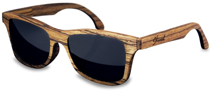 web design: Wood Ray-ban style glasses