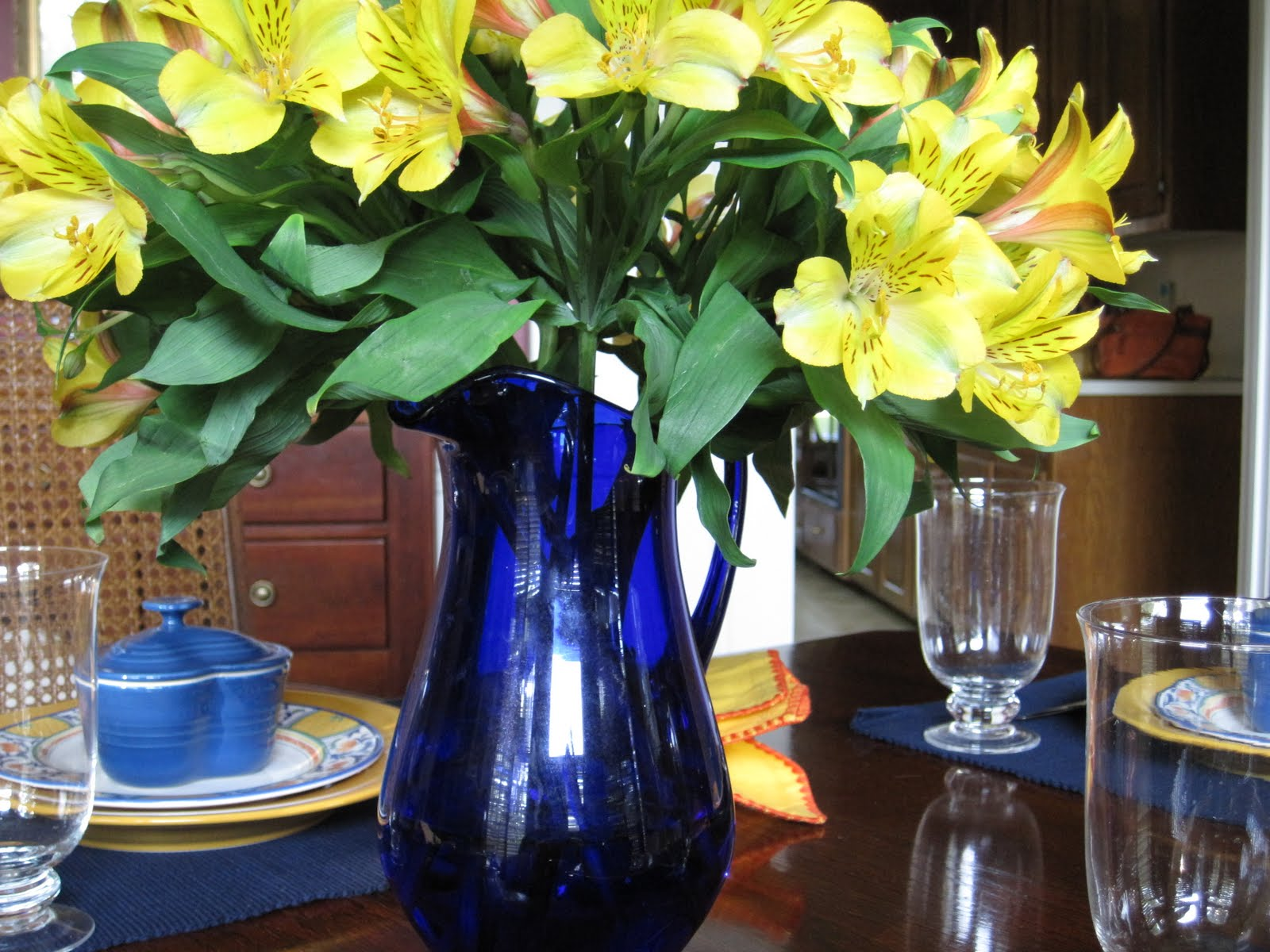 Blue And Yellow Wedding Centerpieces. blue yellow wedding at the ...