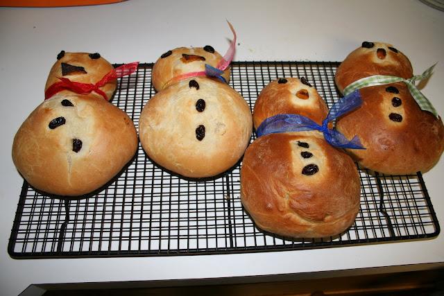 snowman bread