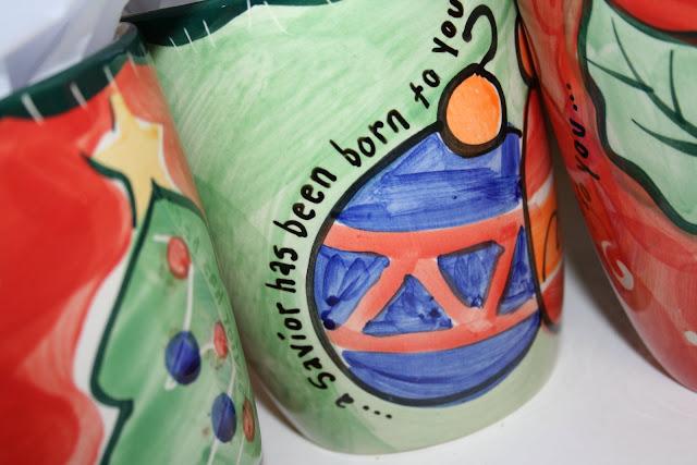 embellished mugs for a teacher appreciation gift