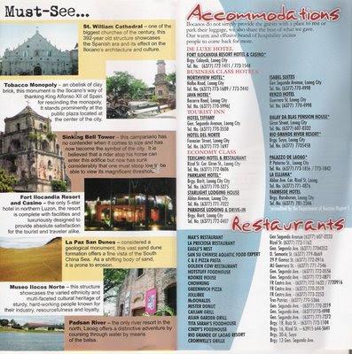 TRAVEL CENTRAL PHILIPPINES: Brochure - Laoag City, Ilocos ...