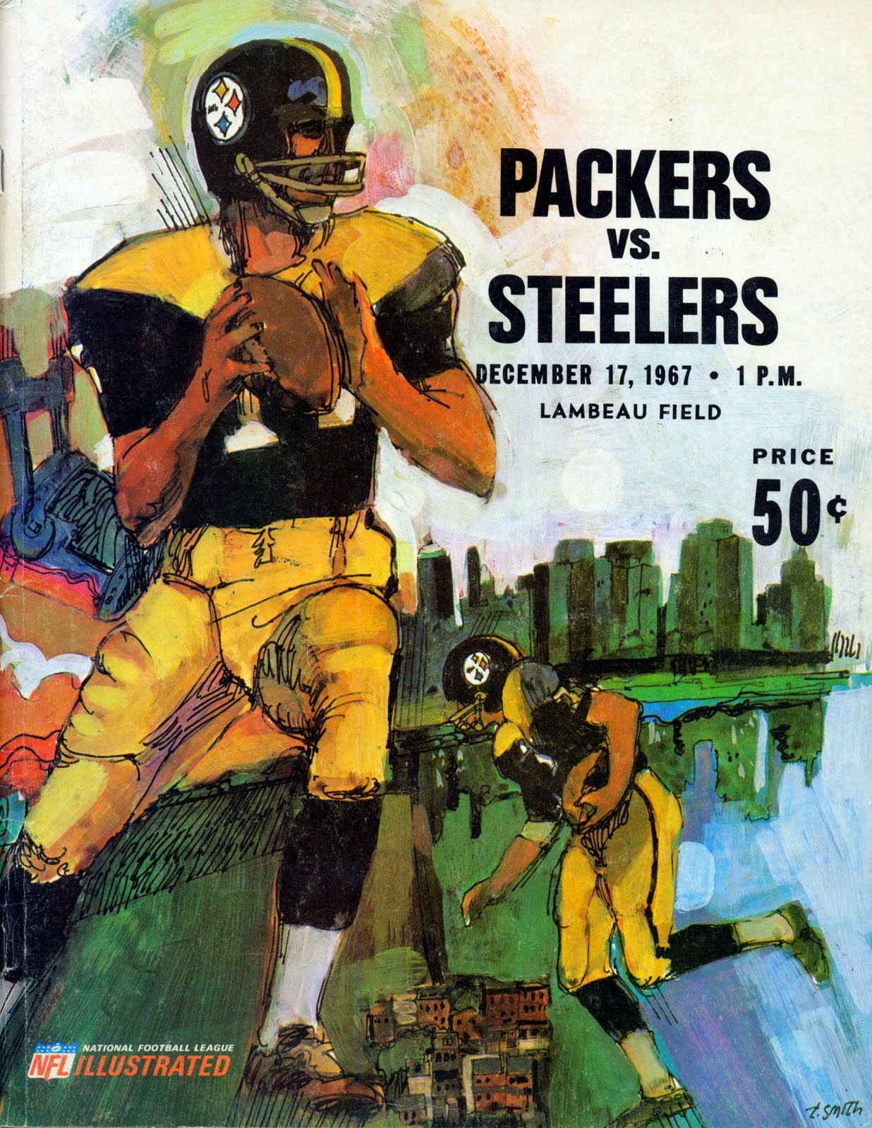pretty nice e1f77 925b0 PACKERVILLE, U.S.A.: Packers vs. Steelers... 1967
