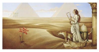 Desert Lotus, by M Parkes