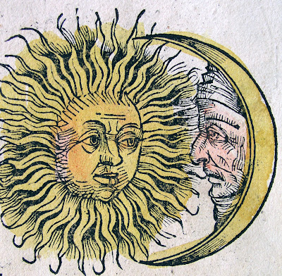 Sun and Moon: parchment
