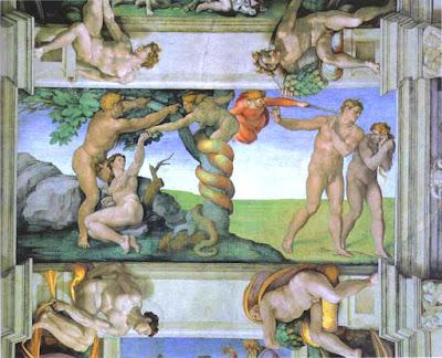 Adam and Eve: Michelangelo