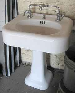 The Box House Vintage 1920s Kohler Sink With Mixing Faucet