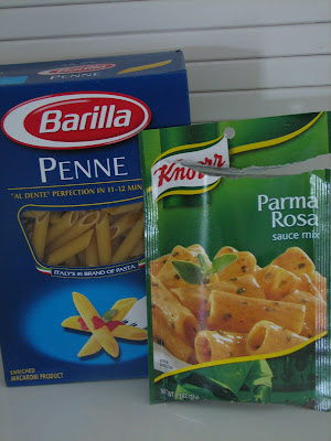 taste buds: penne parma rosa with grilled chicken...