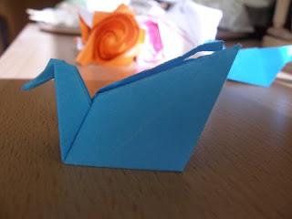 Swan origami
