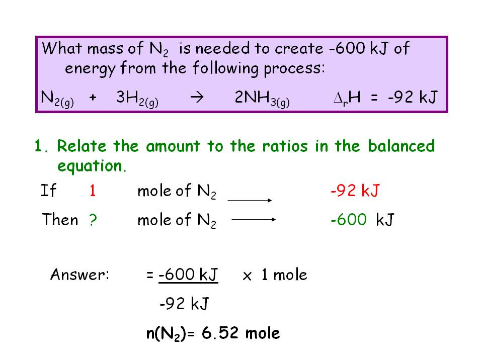 SKC Year 12 Chemistry 2011 Revision: Enthalpy Calculations