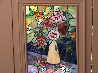 Suburban Retreat Stained Glass Garden Gate