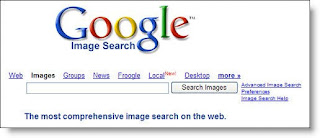 Google Image Search features the same bare-bones search interface as does normal Google.