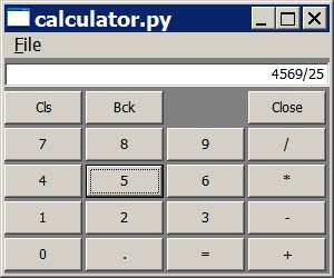 學而時習之: wxPython 筆記(calculator)