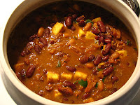 Curried Red Kidney Beans with Paneer