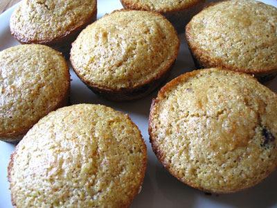 Blueberry Cornmeal Muffins | Lisa's Kitchen | Vegetarian Recipes ...