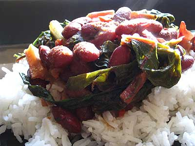 Lucknow Rajma with Sautéed Chard